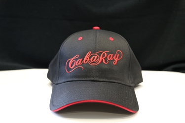 Black Embroidered CabaRay Trucker Cap