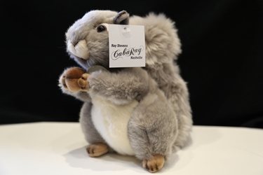 Large stuffed squirrel gray and brown
