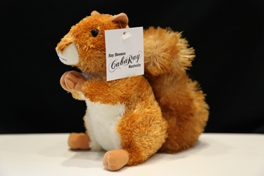 Red stuffed squirrel