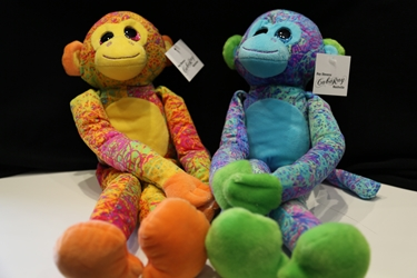 Tie Dyed stuffed monkey